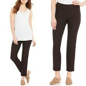 Eileen Fisher Brown Pull-On Pants